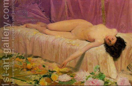Flor deshecha by Antonio Fillol Granell - Reproduction Oil Painting