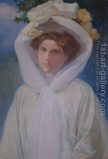 Adela de La Hoz by Antonio Fillol Granell - Reproduction Oil Painting