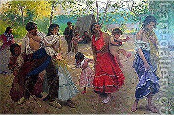 La Rebelde by Antonio Fillol Granell - Reproduction Oil Painting