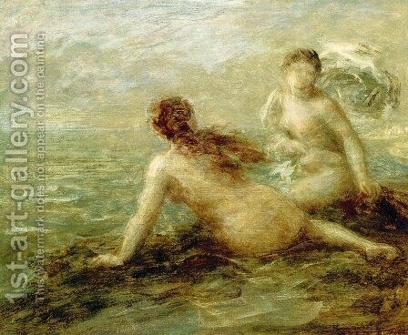 Bathers by the Sea by Ignace Henri Jean Fantin-Latour - Reproduction Oil Painting
