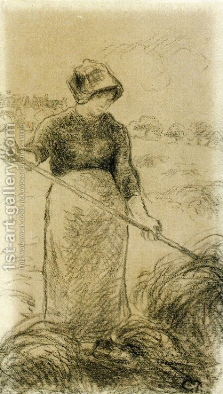 Haymaker by Camille Pissarro - Reproduction Oil Painting