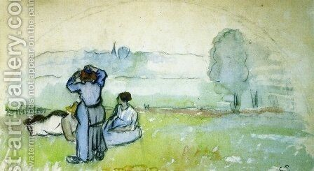 Fan Project by Camille Pissarro - Reproduction Oil Painting