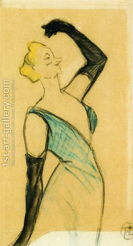 Yvette Guilbert I by Toulouse-Lautrec - Reproduction Oil Painting