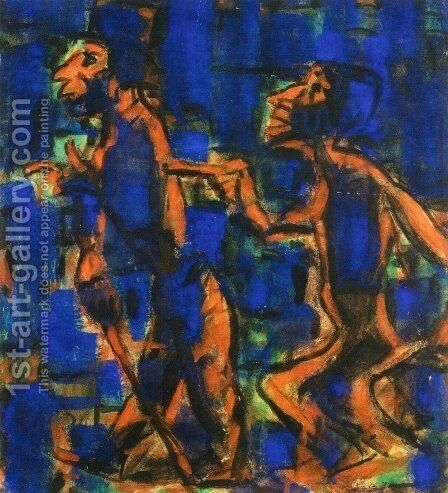 Two Gypsies by Christian Rohlfs - Reproduction Oil Painting