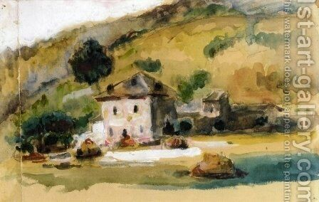 Near Aix-en-Provence by Paul Cezanne - Reproduction Oil Painting