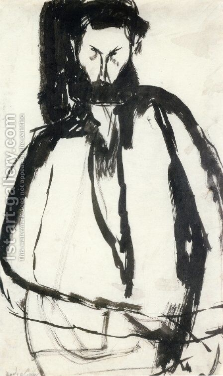 Bearded Man by Amedeo Modigliani - Reproduction Oil Painting