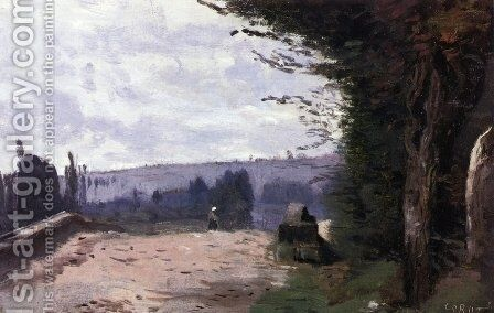 Bridge in the Coubron Valley by Jean-Baptiste-Camille Corot - Reproduction Oil Painting