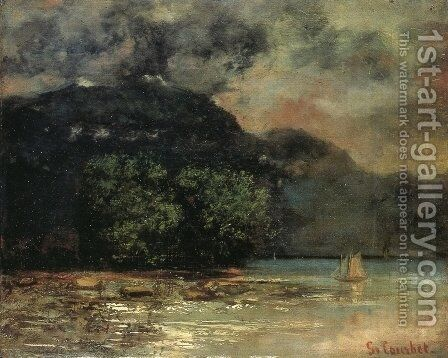 Lake Geneve before the Storm by Gustave Courbet - Reproduction Oil Painting
