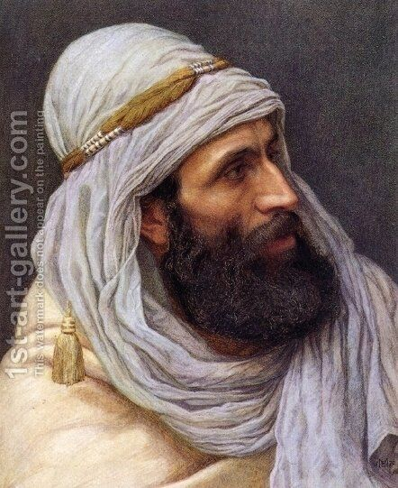 Portrait of an Arab by Edith Martineau - Reproduction Oil Painting