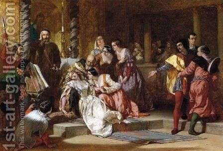 Much Ado About Nothing by Alfred Elmore - Reproduction Oil Painting