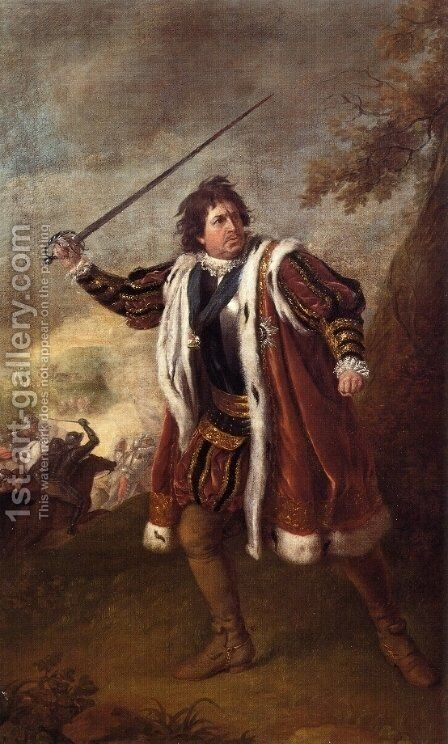 Portrait of David Garrick as Richard III by Sir Nathaniel Dance-Holland - Reproduction Oil Painting