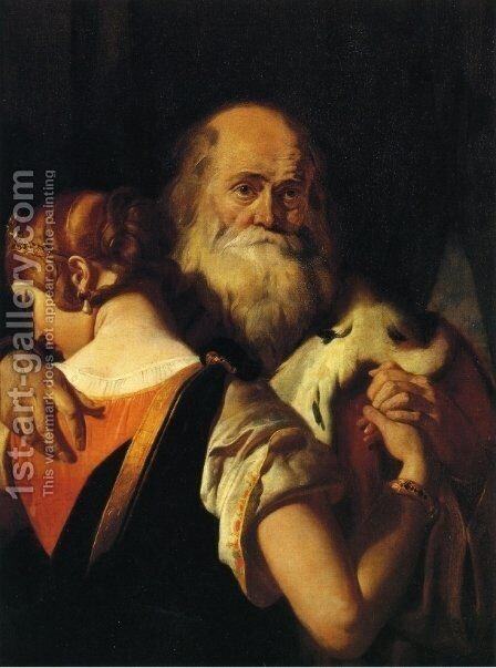 King Lear and Cordelia by Daniel Maclise - Reproduction Oil Painting