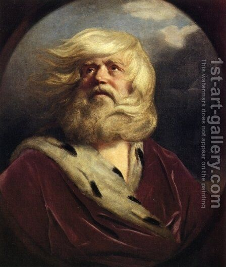 Stidy for King Lear by Sir Joshua Reynolds - Reproduction Oil Painting