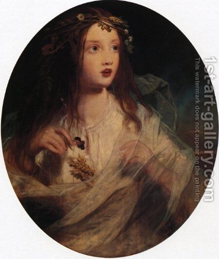 Ophelia by James Sant - Reproduction Oil Painting