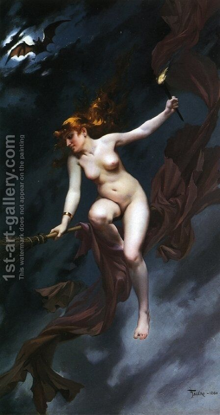 Muse of the Night by Luis Ricardo Falero - Reproduction Oil Painting