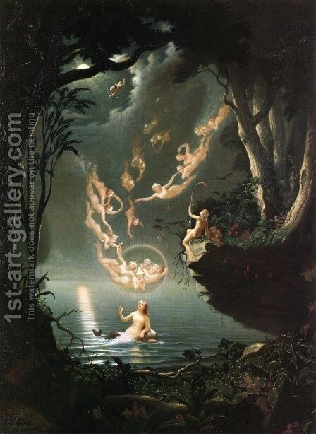 Oberon and the Mermaid, 1853 by Douglas Harvey - Reproduction Oil Painting