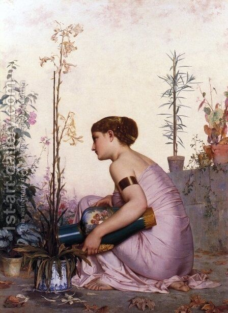 The Lily is Dead by Adolphe Alexandre Lesrel - Reproduction Oil Painting