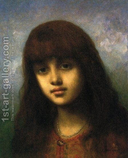 My Little Model by Alexei Alexeivich Harlamoff - Reproduction Oil Painting