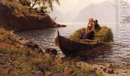In Calm Waters by Hans Dahl - Reproduction Oil Painting