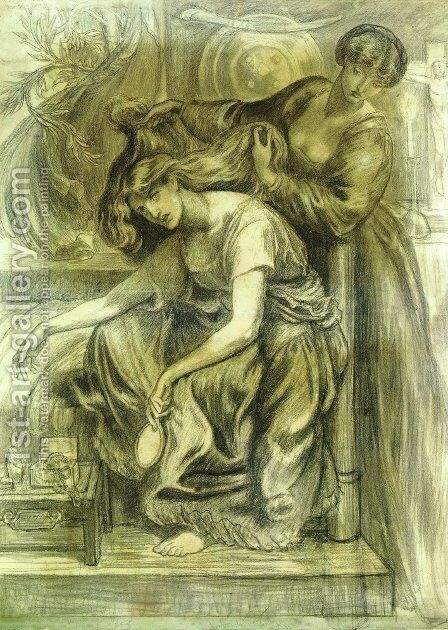 Desdemona's Death Song by Dante Gabriel Rossetti - Reproduction Oil Painting