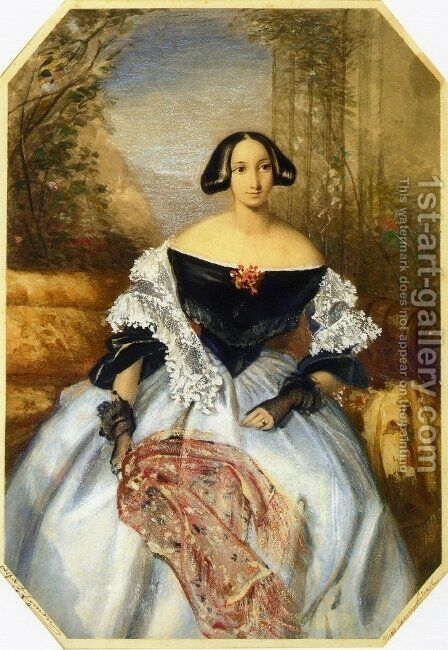 Miss Jenny Lind by Alfred D. Lemon - Reproduction Oil Painting
