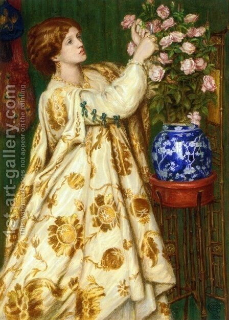 Monna Rosa by Dante Gabriel Rossetti - Reproduction Oil Painting