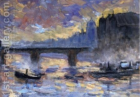 View of London by Maximilien Luce - Reproduction Oil Painting