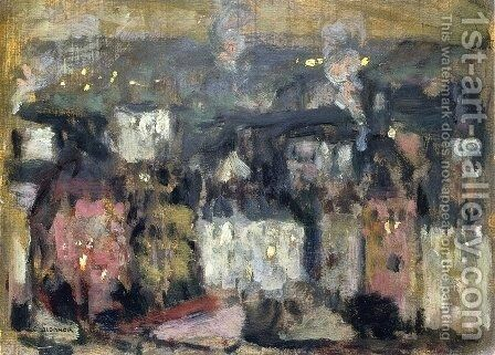 The Suburbs by Henri Eugene Augustin Le Sidaner - Reproduction Oil Painting