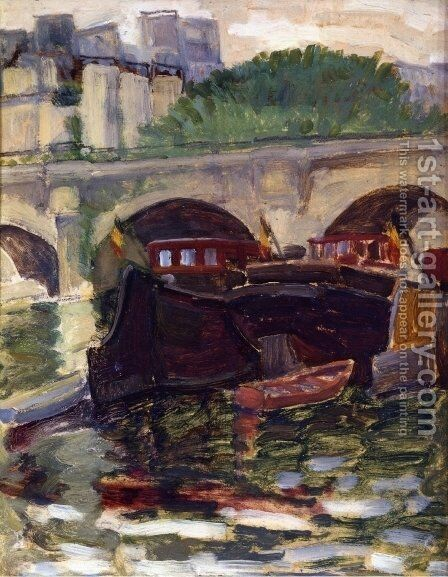 Barges by Henri Edmond Cross - Reproduction Oil Painting