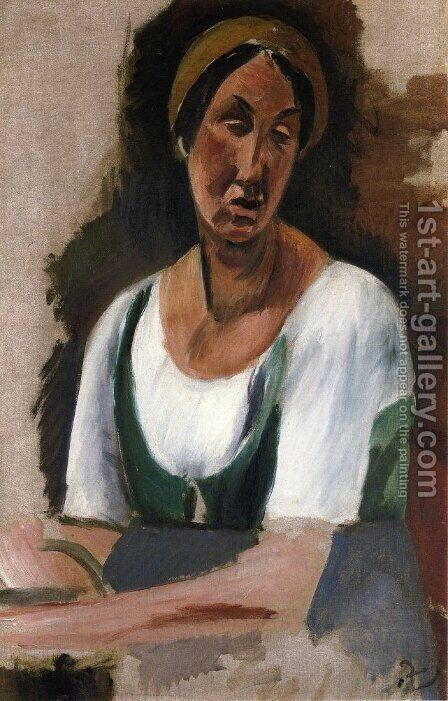 Bust of a Woman by Andre Derain - Reproduction Oil Painting