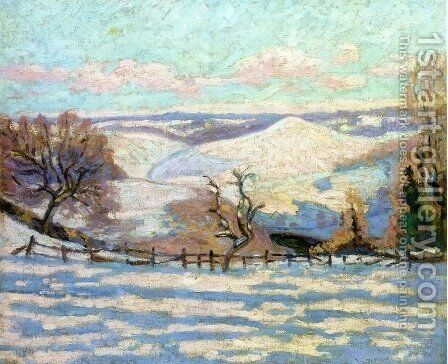 White Frost at Puy Barriou, Crozant by Armand Guillaumin - Reproduction Oil Painting