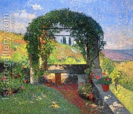 La Pergola (Gloriette) by Henri Martin - Reproduction Oil Painting