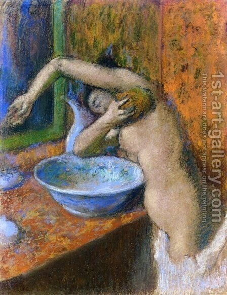 Woman at Her Toilette IV by Edgar Degas - Reproduction Oil Painting