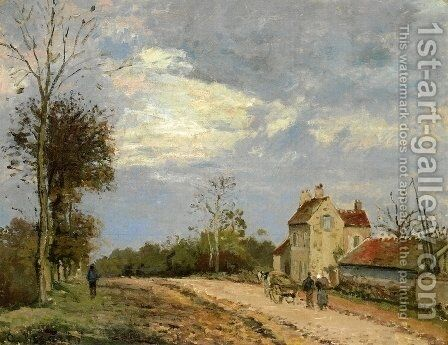 The House of Monsieur Musy, Route de Marly, Louveciennes by Camille Pissarro - Reproduction Oil Painting