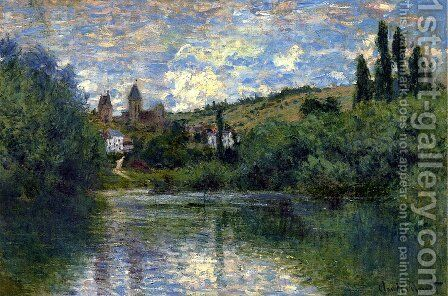 View of Vetheuil I by Claude Oscar Monet - Reproduction Oil Painting
