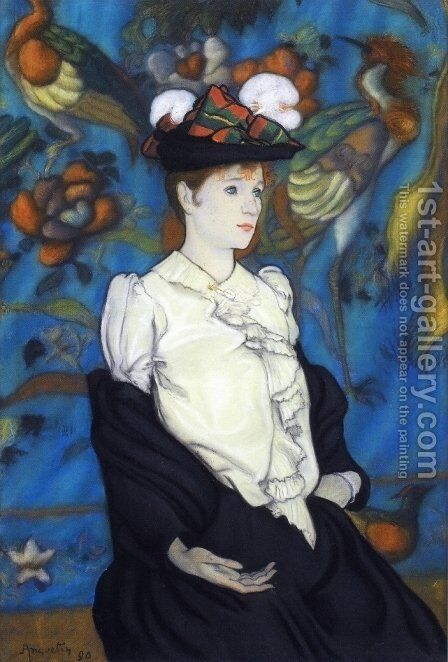 Woman with Hat by Louis Anquetin - Reproduction Oil Painting