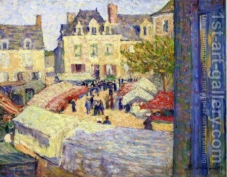 Market Place by Henri Lebasque - Reproduction Oil Painting