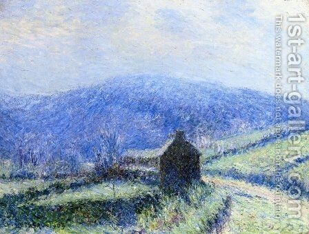 Hoarfrost at Huelgoat, Finistere by Gustave Loiseau - Reproduction Oil Painting