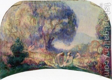Bathers by Henri Lebasque - Reproduction Oil Painting