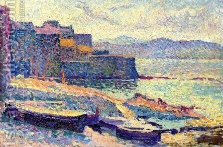 The Fishing Port at Saint-Tropez by Maximilien Luce - Reproduction Oil Painting