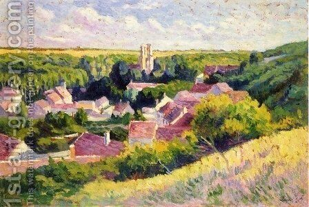 Moulineux, the Village by Maximilien Luce - Reproduction Oil Painting