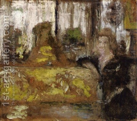 Madame Arthur Fontaine by Edouard  (Jean-Edouard) Vuillard - Reproduction Oil Painting