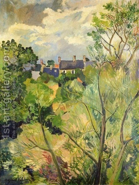 View from My Window in Genets (Brittany) by Suzanne Valadon - Reproduction Oil Painting