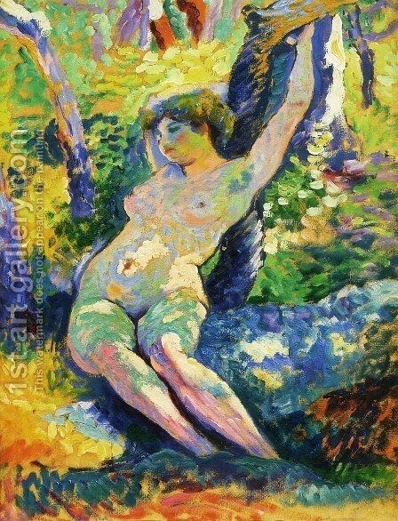 Young Woman by Henri Edmond Cross - Reproduction Oil Painting