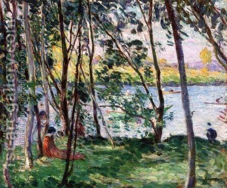 Rest on the Banks of the Yaudet by Henri Lebasque - Reproduction Oil Painting