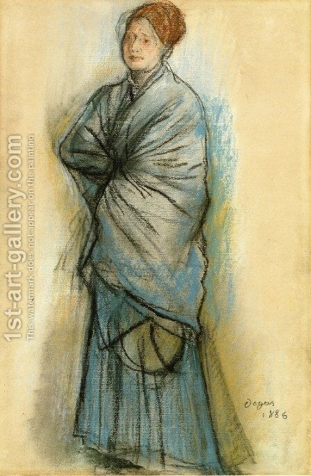 Woman in Blue by Edgar Degas - Reproduction Oil Painting