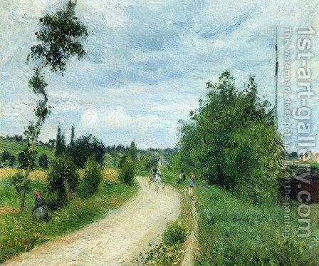 The Auvers Road, Pontoise by Camille Pissarro - Reproduction Oil Painting