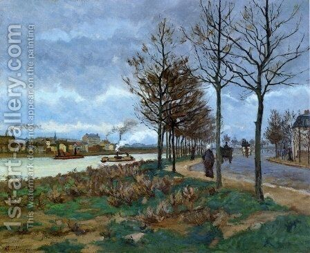 The Seine I by Armand Guillaumin - Reproduction Oil Painting