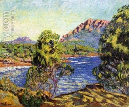 Agay,  the Bay during the Mistral by Armand Guillaumin - Reproduction Oil Painting