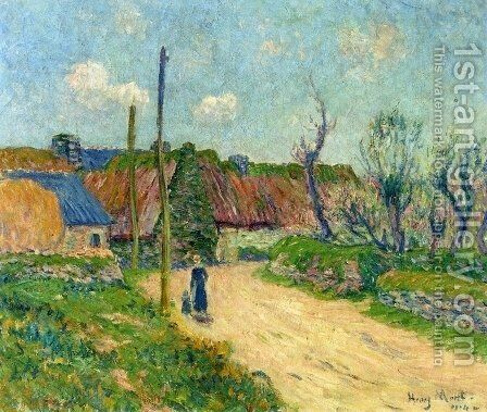 A Farm by Henri Moret - Reproduction Oil Painting